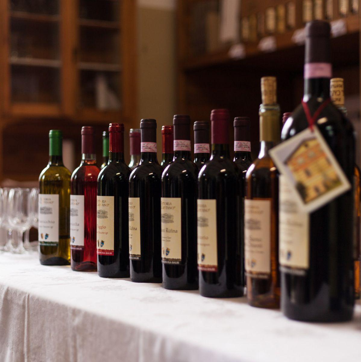 bottiglie vino pontassieve fattoria il capitano